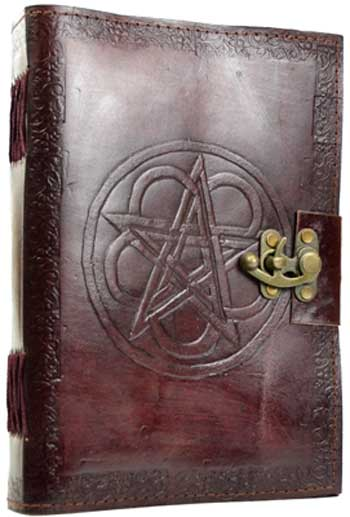 Pentagram leather w/ latch