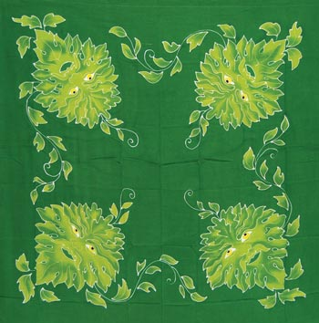 "Green Man cloth 36"" x 36"""