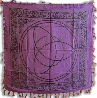 Purple Triquetra altar/ tarot cloth