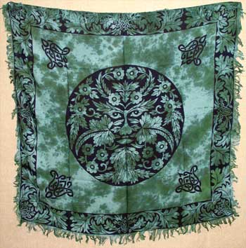 Greenman altar/tarot cloth