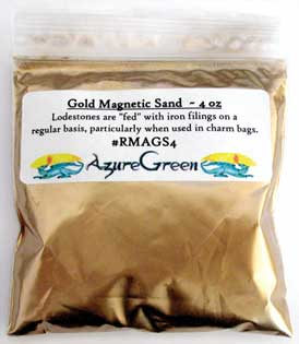 Gold Magnetic Sand 4oz